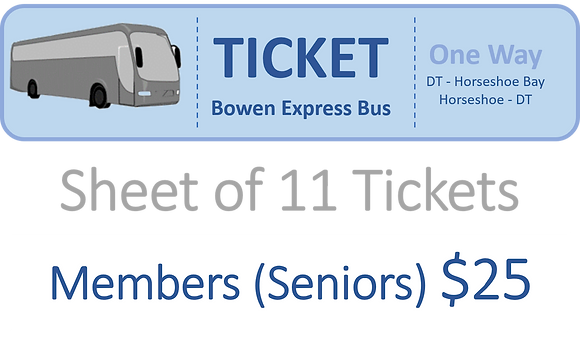 Member (Seniors) Tickets Bowen Express Bus