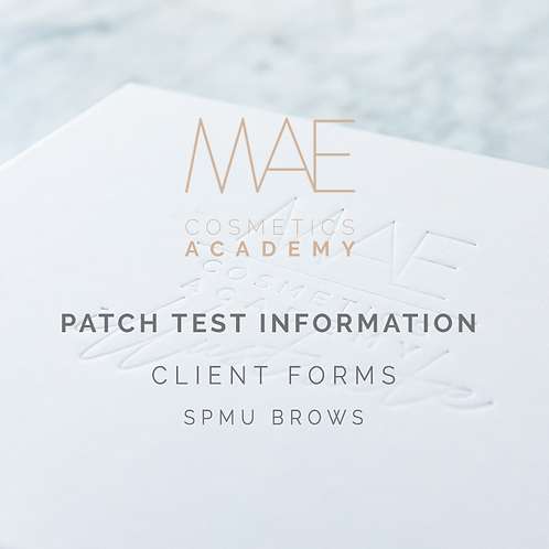 Patch Test Form & Instructions Sheet