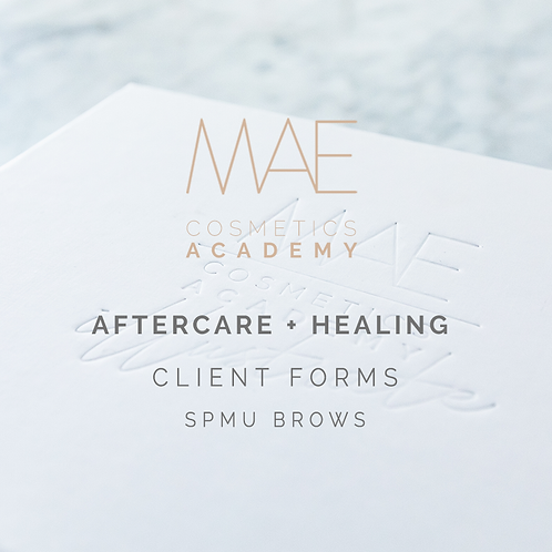 Aftercare & Healing Process Sheets