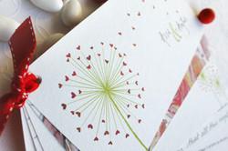 hearts wedding invitations