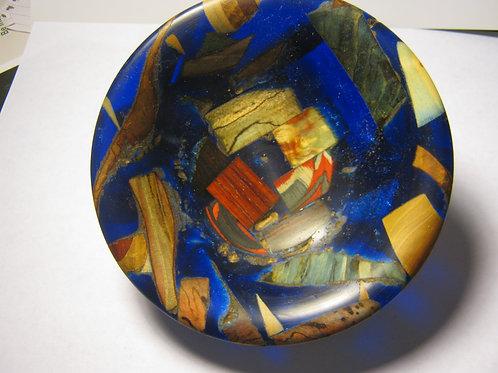 Stabilized wood/alumilite bowl