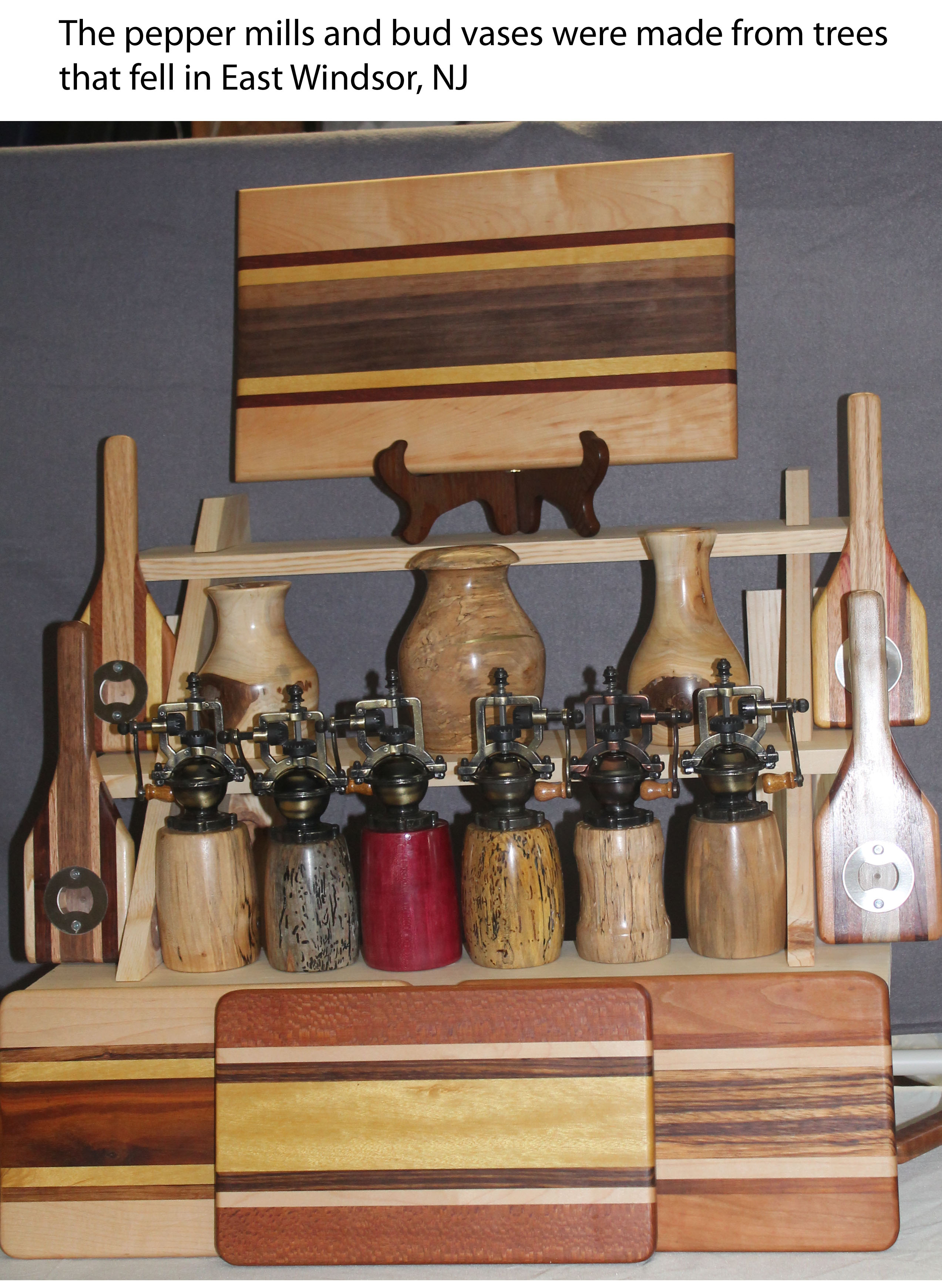 Cutting boards and pepper mills
