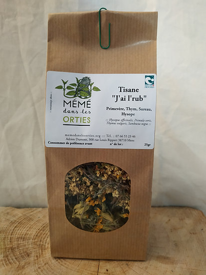 "Tisane ""Jai l'rub"" 25gr"