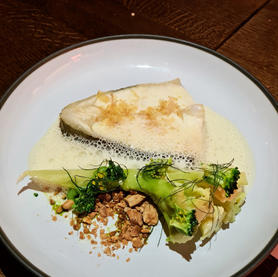 Halibut and broccoli