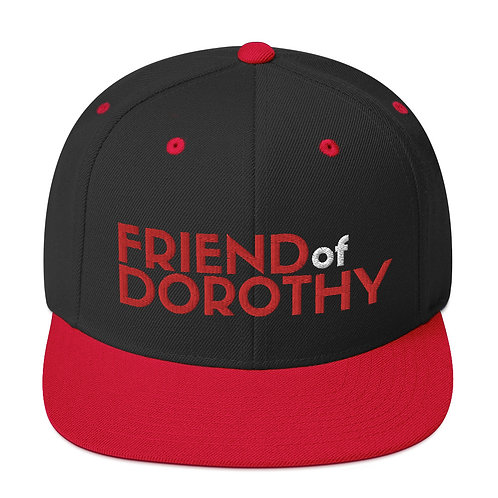 Friend Of Dorothy Snapback (Black/Red, Black)