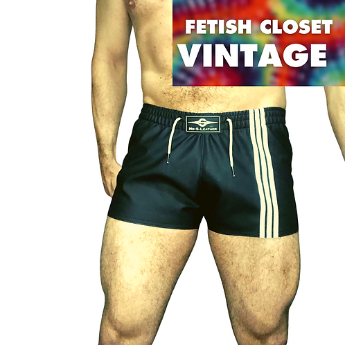 "Mr S Leather F*ckgear Sport Shorts Black / White (34"")"