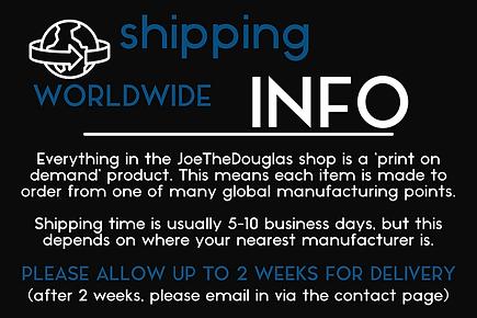 JoeTheDouglas Shipping Info