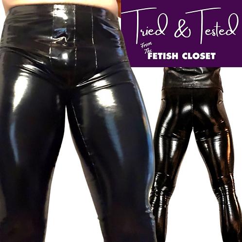 Men's Black PVC Leggings