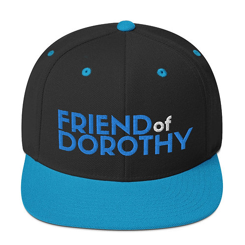 Friend Of Dorothy Snapback (Black/Blue, Black)