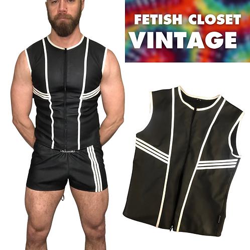 Mr S Leather F*ckGear Racer Vest Black / White