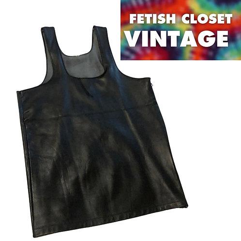 """Leather Zip Up Tank / Vest - 36"""" / 90cm chest"""