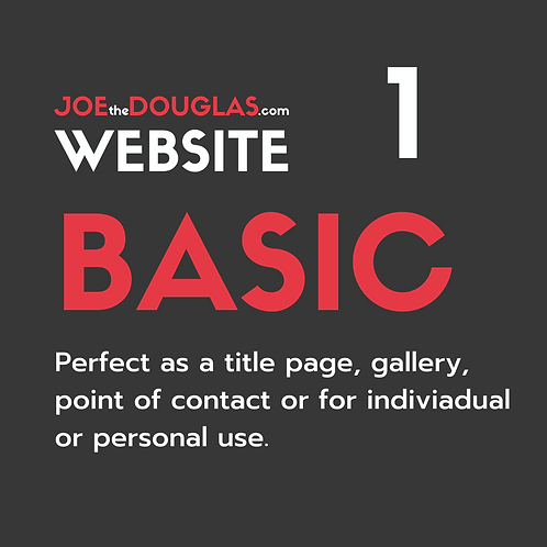 Basic Website - from £150 (includes £50 deposit)