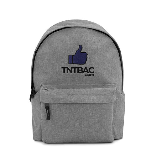 TNTBAC Blue Thumbs Up Embroidered Backpack