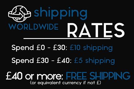 JoeTheDouglas Shipping Rates
