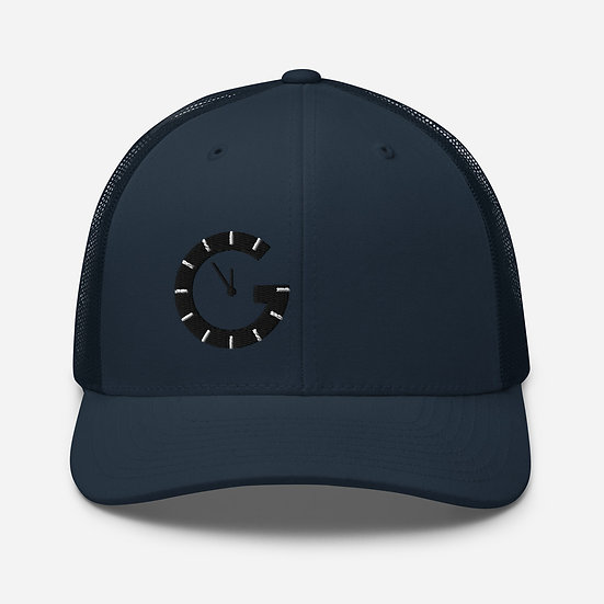 G o'clock Trucker Cap (black clock - all colour hats)