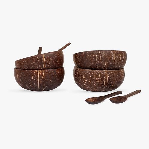 Original Coconut Bowls - Gaia's Store - 4'lü Set