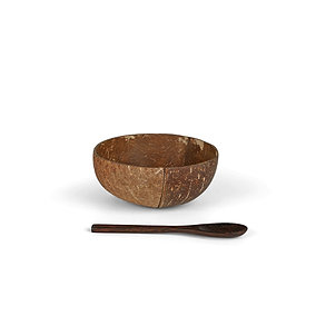 Split Coconut Bowl & Kaşık Set- Gaia's Store
