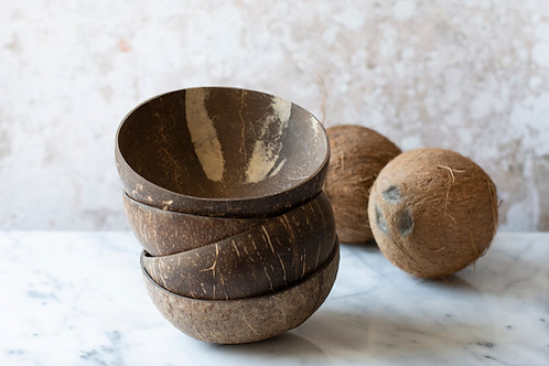 Natural Coconut Bowls - Gaia's Store - Set of 4