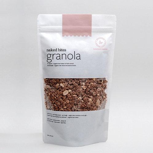 Granola - Organik Ham Kakao ve Fıstık Ezmeli - 360 gr