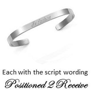"Bracelet - silver tone ""Positioned 2 Receive"""