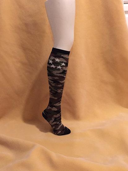 Women's Knee High Camo Sock