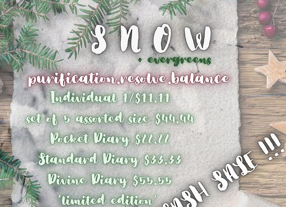 SNOW + EVERGREEN | Sacred Stationery