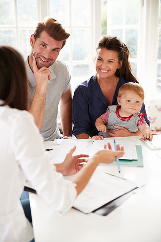 Family With Baby Meeting Financial Advis