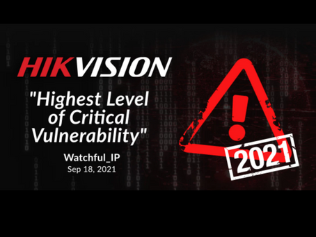 Cybersecurity Vulnerability Could Affect Millions of Hikvision Cameras
