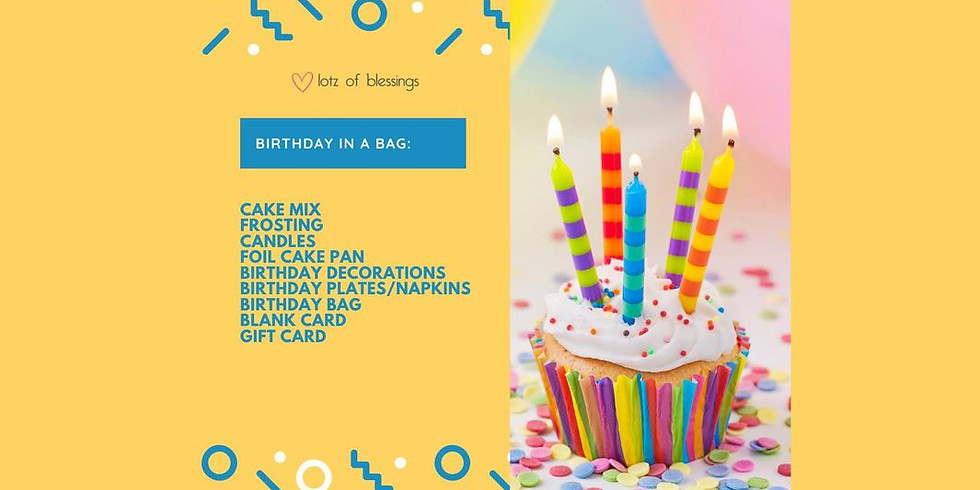 Birthday in a Bag: Packing Event