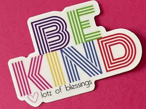 Be Kind Sticker - 3 for $10