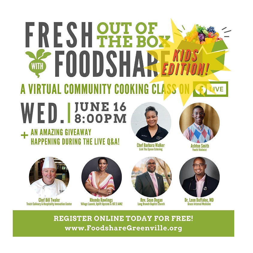 Virtual Community Cooking Class - Kids Edition