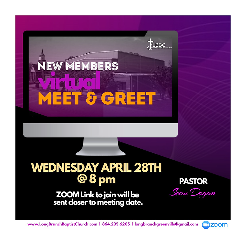 New Members Virtual Meet & Greet