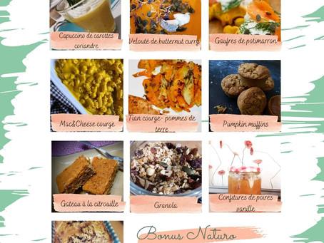 Carnet de recettes de saison - téléchargement