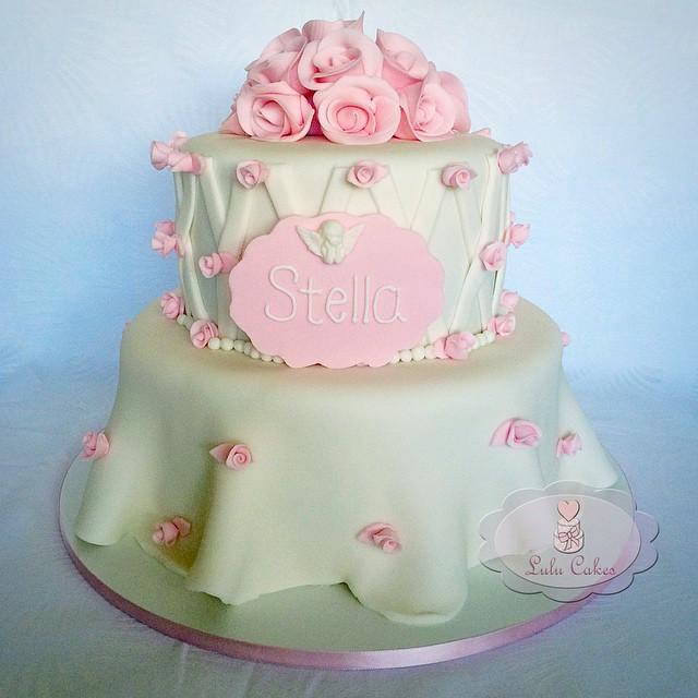 Batizado flores rosas Stella
