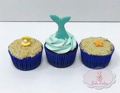 Fundo do mar cupcakes