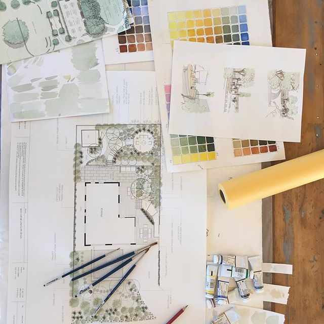 This week in the studio 😊 #tassiedesigner #creativeoutdoorsolutions #lovemyjob🌿 #landscapedesign