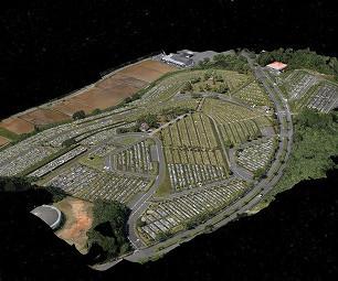 3Dモデリングを行い、よりスムーズな墓地管理の可視化のお手伝いをしました(M300 RTK)