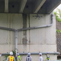 橋梁点検作業の指導をしました(M300RTK+H20)