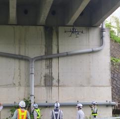 橋梁点検作業(M300 RTK)の指導をしました