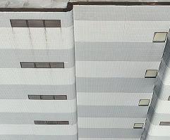 6階建てビル壁全面の撮影及び赤外線撮影(M300RTK)