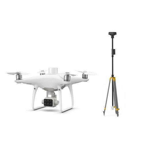 DJI P4 Multispectral + D-RTK 2 High Precision GNSS Mobile Station Combo