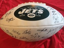 NY Jets 2018 Signed Football