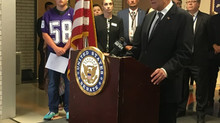 U.S. Senator visits Little Falls Middle School