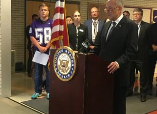 U.S. Senator visits Little Falls Middle School
