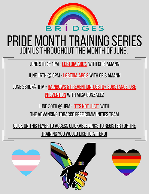 Copy of PRIDE Month Training Series Flye