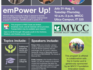 emPower Up! A summer empowerment program for LGBTQIA+ identified youth in grades 9-12