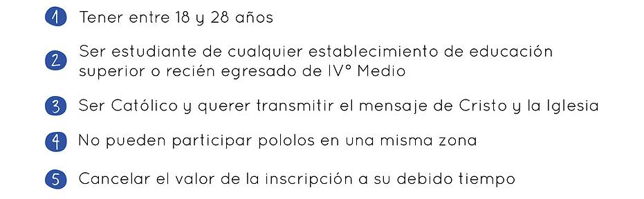 Requisitos mision pais