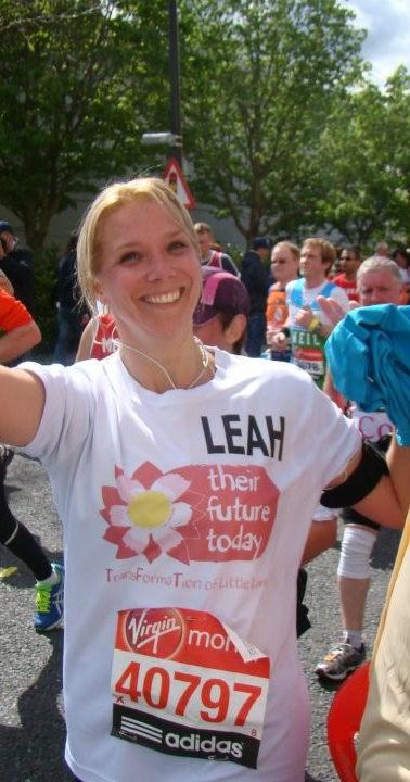 London Marathon Runner Leah