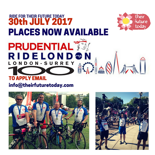 Places are now available for the Prudential Ride London 100 Cycle