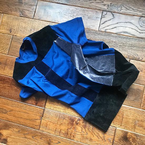 Christopher Kane mercerised cotton & velvet t shirt